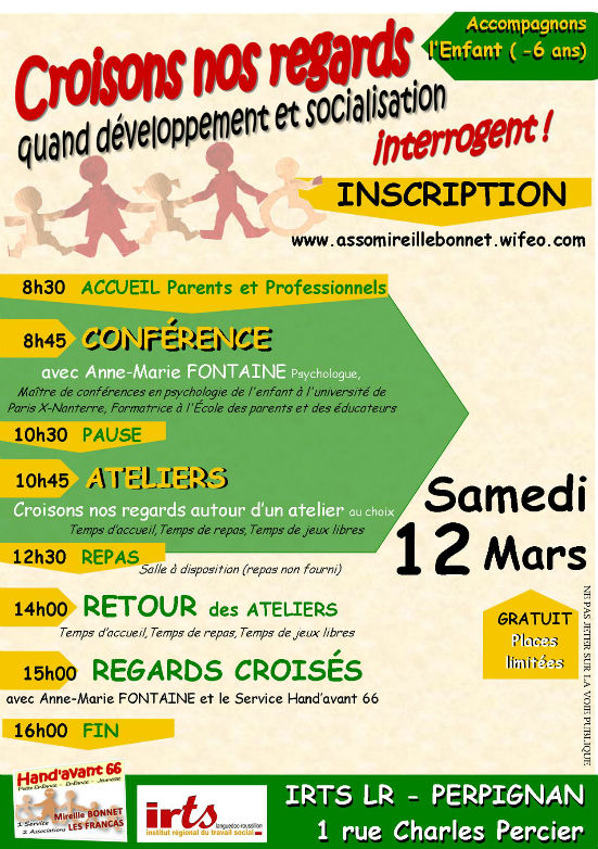 Service Hand`avant 66_CONFERENCE_Anne Marie FONTAINE_SAMEDI 12 Mars_IRTS PERPIGNAN